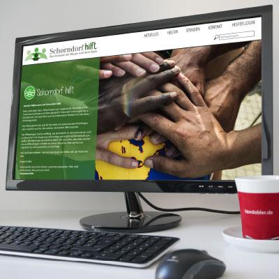Webseite Schorndorf-hilft.de