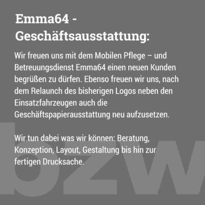 Emma64: Geschäftsausstattung